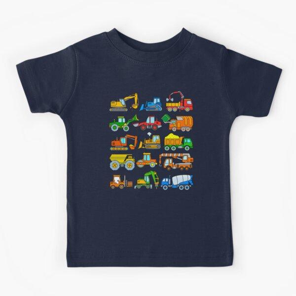 Construction Vehicles Construction Machinery Excavator Trucks Kids T-Shirt