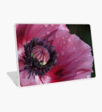 Three flowers: Red - The poppy weeps Laptop Skin