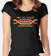 ALL VALLEY KARATE CHAMPIONSHIP 1984 Women's Fitted Scoop T-Shirt