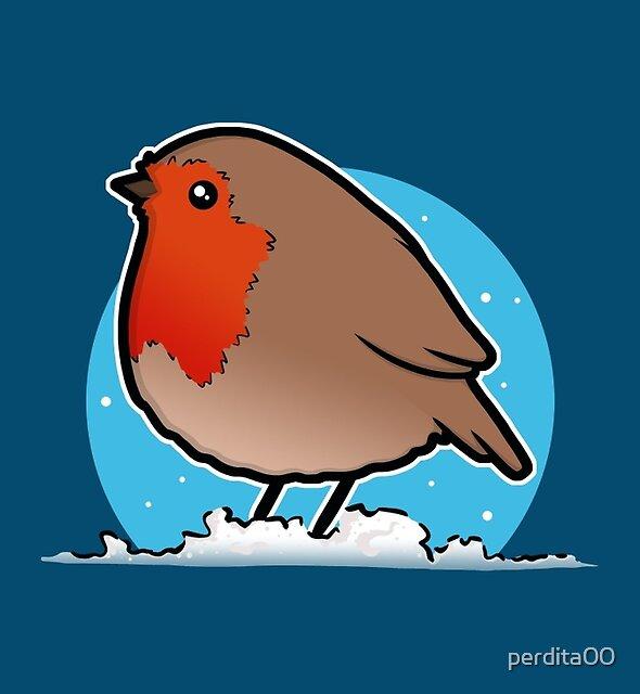 Cute Christmas Robin by perdita00