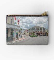 Bay Street in Downtown Nassau, The Bahamas Studio Pouch
