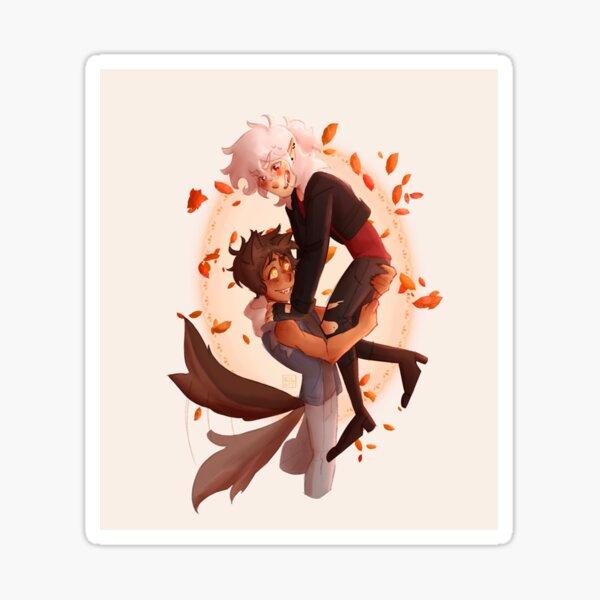 Klance d'automne : vampire et loup-garou Sticker