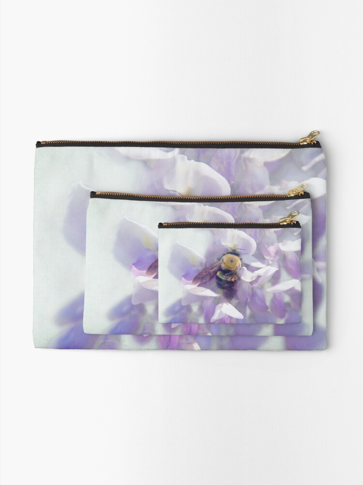 Alternate view of Oh Wisteria! Zipper Pouch