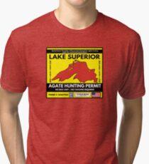 Lake Superior Agate Hunter Permit Tri-blend T-Shirt