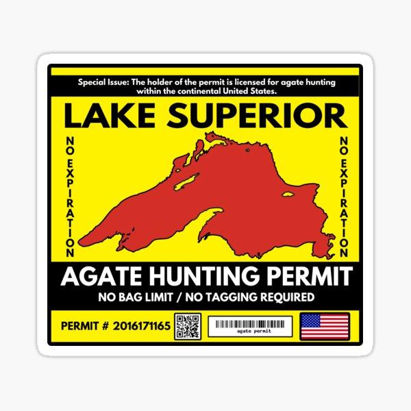 Lake Superior Agate Hunter Permit Sticker