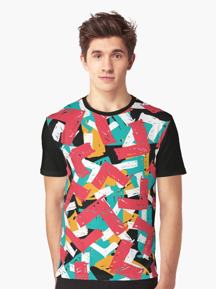 Abstract grunge hipster pattern design Graphic T-Shirt Front