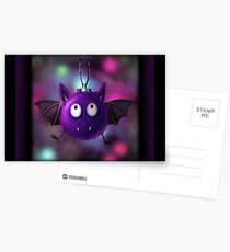 FLUFFBAT BAUBLE XMAS CARD Postcards