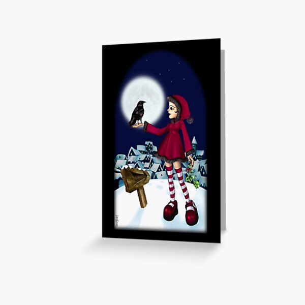 WINTER SNOW GIRL Greeting Card