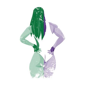 Minimalist She-Hulk by athyabm