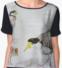 Masked Plovers by Liz H Lovell Chiffon Top