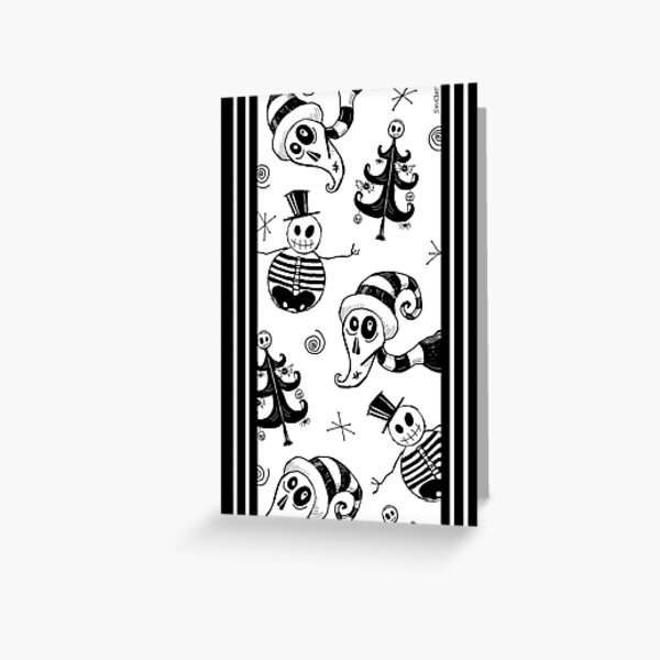 SKELLY XMAS SPOOKY TIDINGS Greeting Card