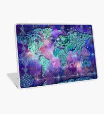 Wallpaper laptop skins redbubble world map laptop skin sciox Images