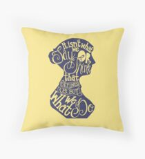 Jane Austen-It isn't what we say or think that defines us, but what we do. Throw Pillow