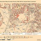 Booth's Map of London Poverty for Ladywell ward, Lewisham by ianturton