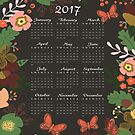 2017 Calendar Gorgeous Blooms by Michelle  Grace