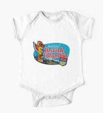 Beautiful British Columbia BC Vintage Travel Decal One Piece - Short Sleeve