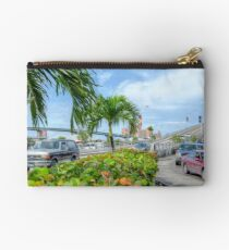 Paradise Island Bridge over Potter's Cay in Nassau, The Bahamas Studio Pouch