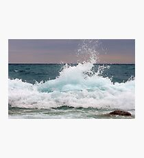 Big waves at the Little Cove ~ Bruce Peninsula, Ontario, Canada Photographic Print