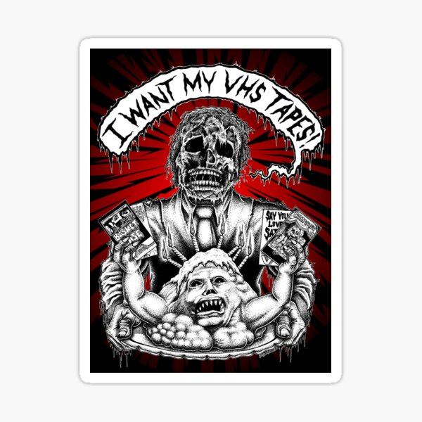 Say You Love Satan 80s Horror Podcast - Creepshow Basketcase VHS Sticker
