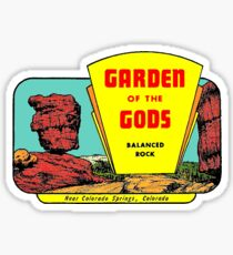 Garden of the Gods Vintage Travel Decal Sticker