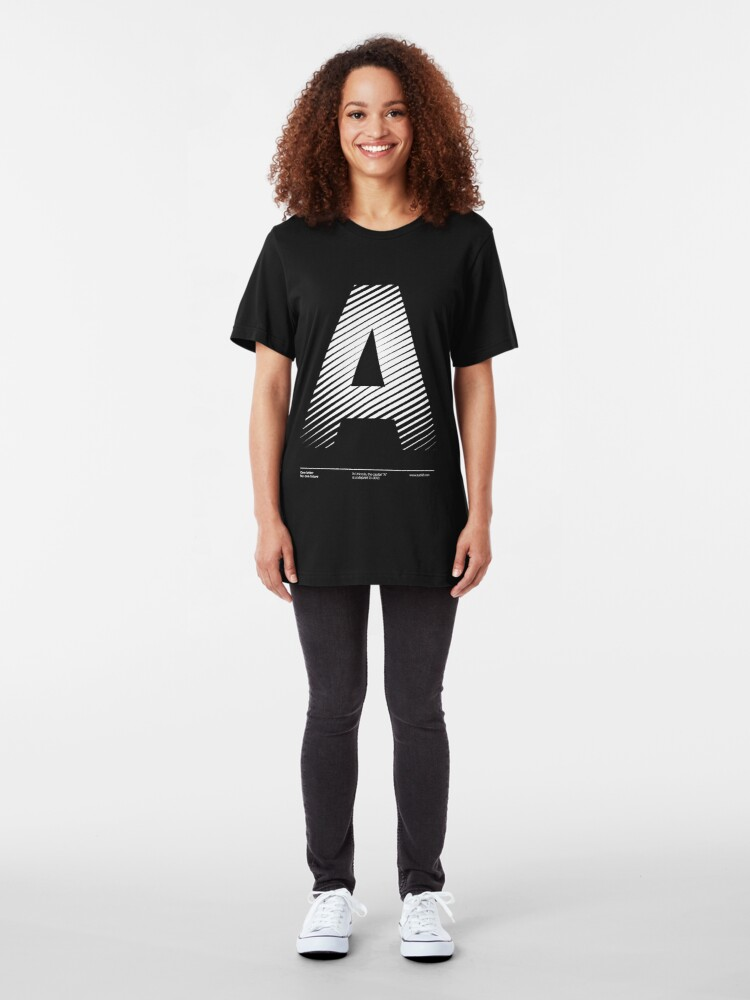 Alternate view of The letter A Slim Fit T-Shirt