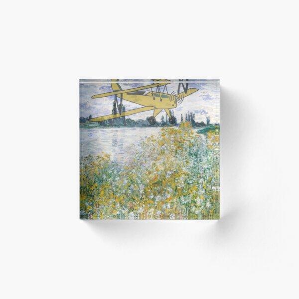 GHOST PILOT in Ile aux Fleurs near Vetheuil (1880) by Claude Monet Acrylic Block