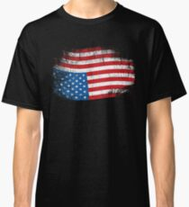 Upside Down American Flag US in Distress T-Shirt Classic T-Shirt