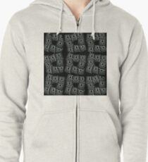 UBER collage Zipped Hoodie
