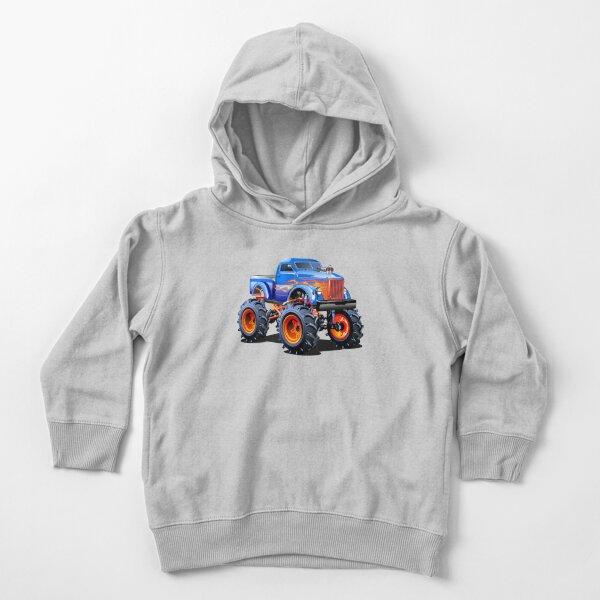Camión monstruo de dibujos animados Sudadera con capucha para bebé