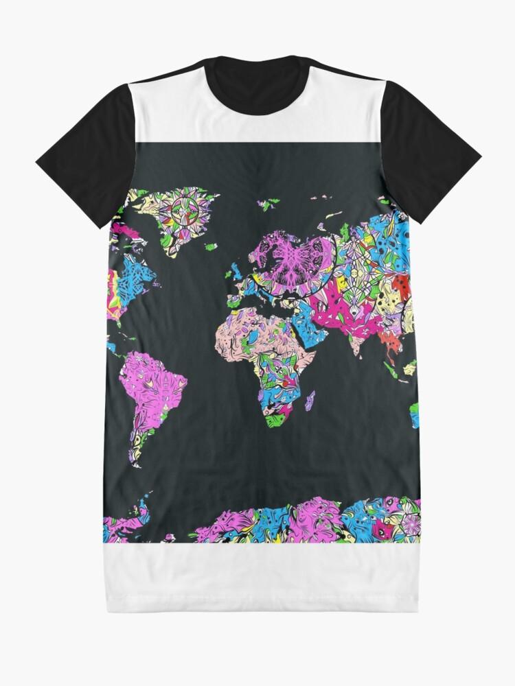 Alternative Ansicht von Weltkarte T-Shirt Kleid