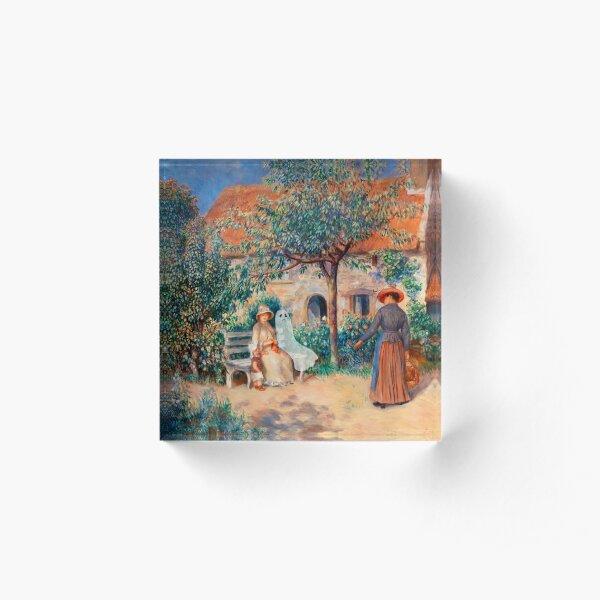 SAD GHOST In Brittany (En Bretagne) (1886) by Pierre-Auguste Renoir  Acrylic Block