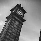 clapham clock tower & st mary's by Tony Jackson