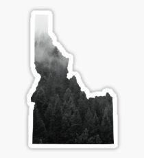 Black and White Mist Sticker