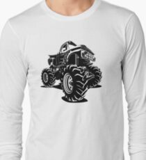 Cartoon Monster Truck Long Sleeve T-Shirt