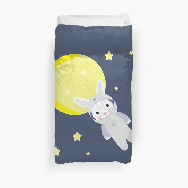 Bunny in space Duvet Cover