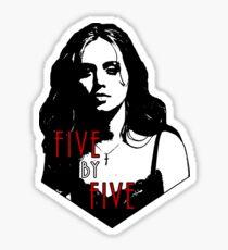 FAITH LEHANE: five by five Sticker