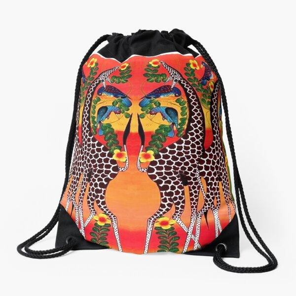 COLOR GIRAFFE Drawstring Bag