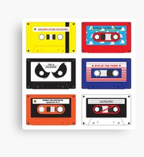 Cassettes Soundtracks Canvas Print