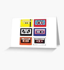 Cassettes Soundtracks Greeting Card