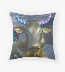 Let's Mooooooove Ahead Together, Ebrington, Derry Throw Pillow