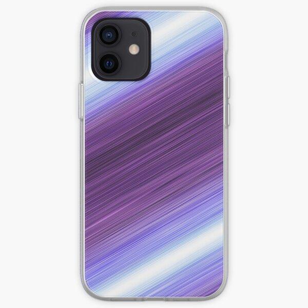 Purple Action Lines! iPhone Soft Case