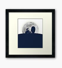 Wall•E and EVE in the Moonlight, Awwwww. Framed Print