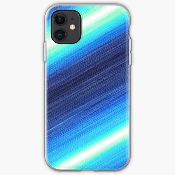 Blue Action Lines! iPhone Soft Case