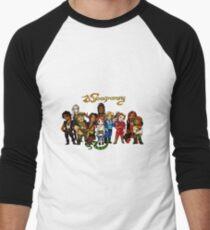 Weaponry Chibi Cast Men's Baseball ¾ T-Shirt