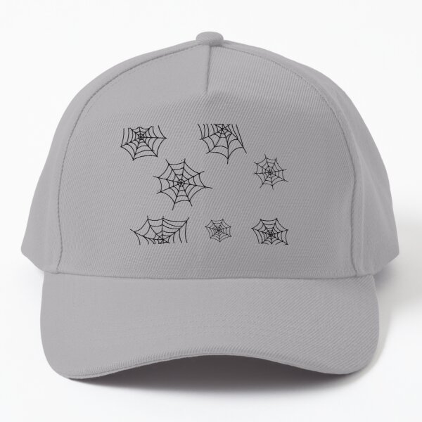 Black halloween webs. Baseball Cap