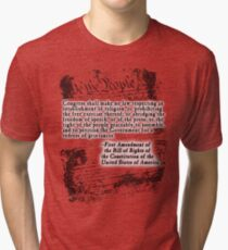 FIRST Amendment US Constitution Bill of Rights Tri-blend T-Shirt