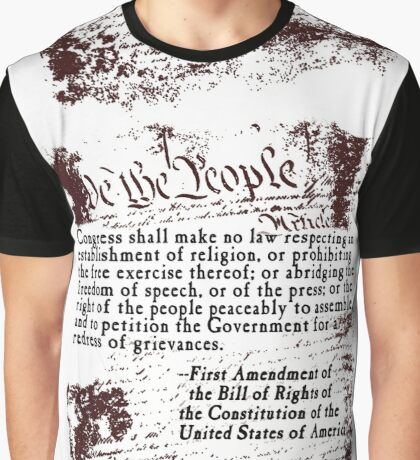 FIRST Amendment US Constitution Bill of Rights Graphic T-Shirt