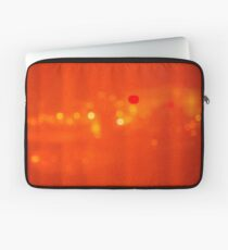 Red Hot Night Lights Laptop Sleeve