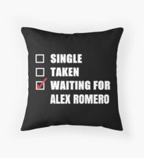 Waiting for Alex Romero Throw Pillow