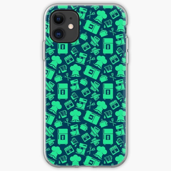 Green Cooking Pattern iPhone Soft Case